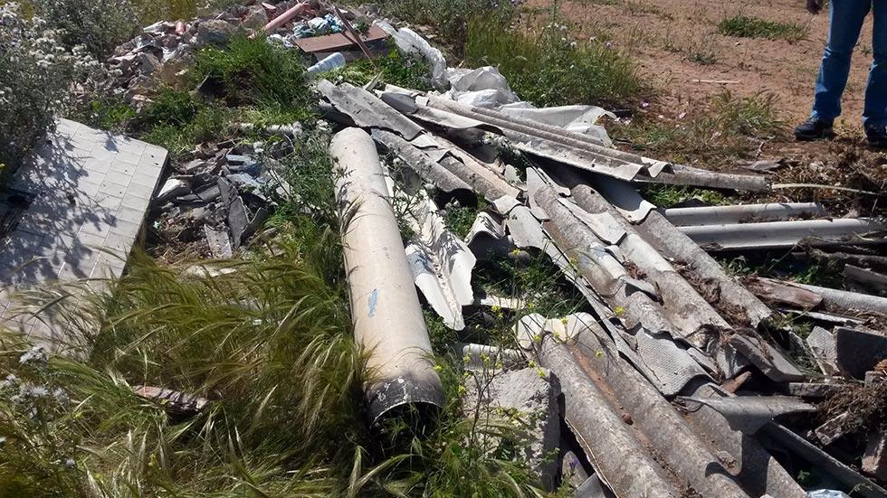 Discarica di materiali contenenti cemento amianto - Ragusa