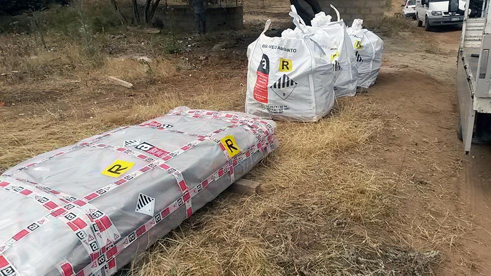 Messa in sicurezza di una discarica abusiva di manufatti in cemento amianto Ragusa