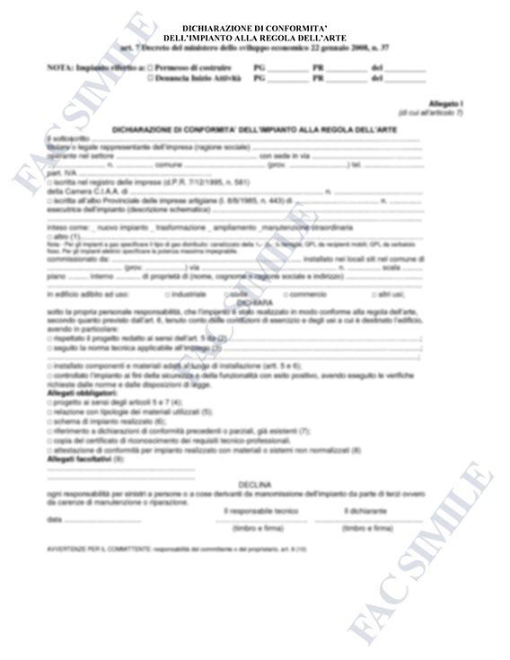Certificazione per impianti elettrici
