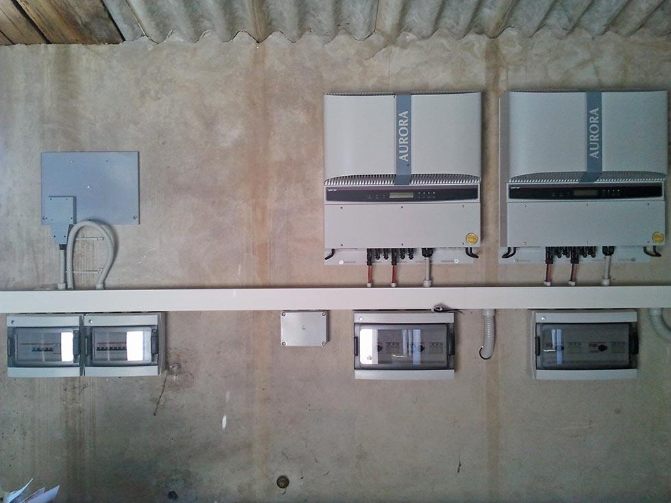 Sala macchine per la gestione dell'impianto fotovoltaico