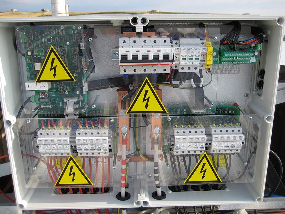 Impianto elettrico del fotovoltaico