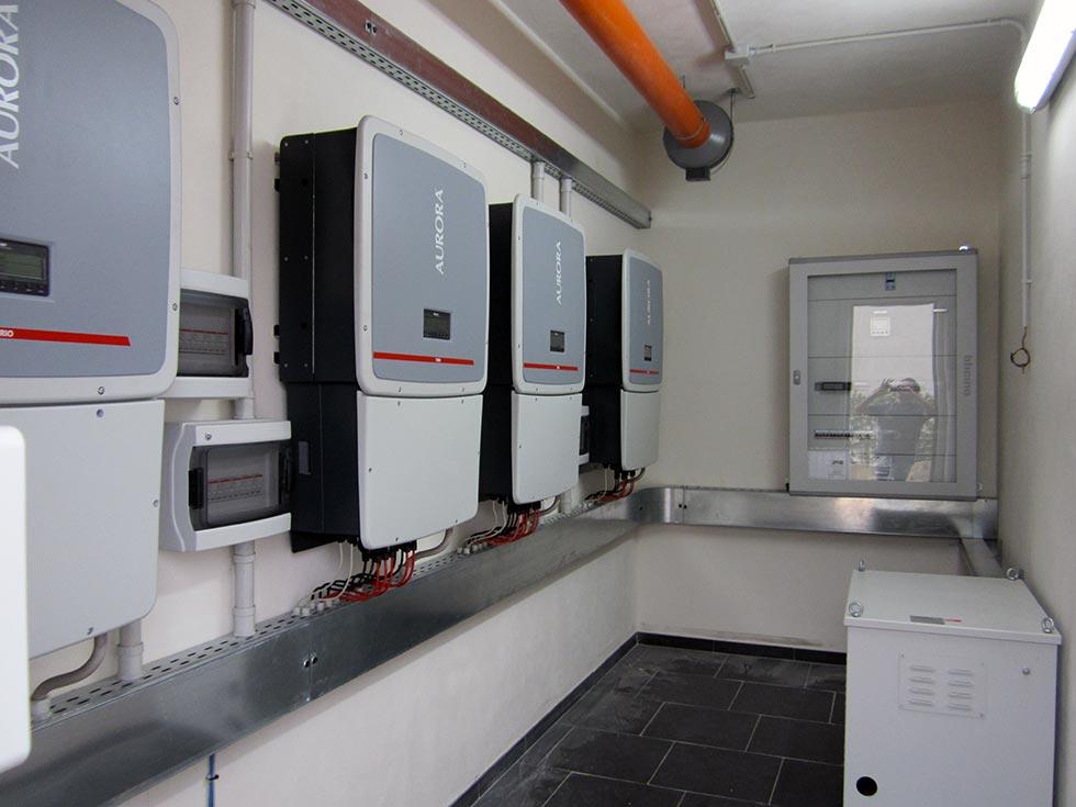 Cabina di controllo dell'impianto solare termico