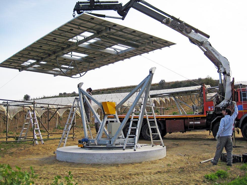 Posizionamento dei pannelli fotovoltaici con inseguitore solare a doppio asse