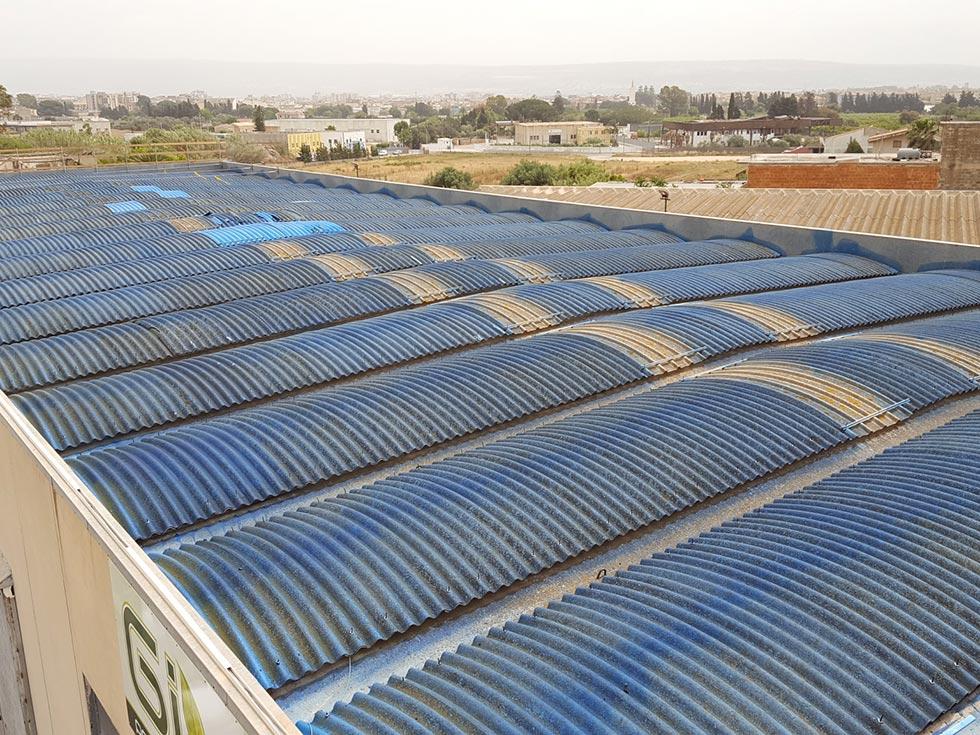 Rifacimento della copertura in cemento amianto Ragusa