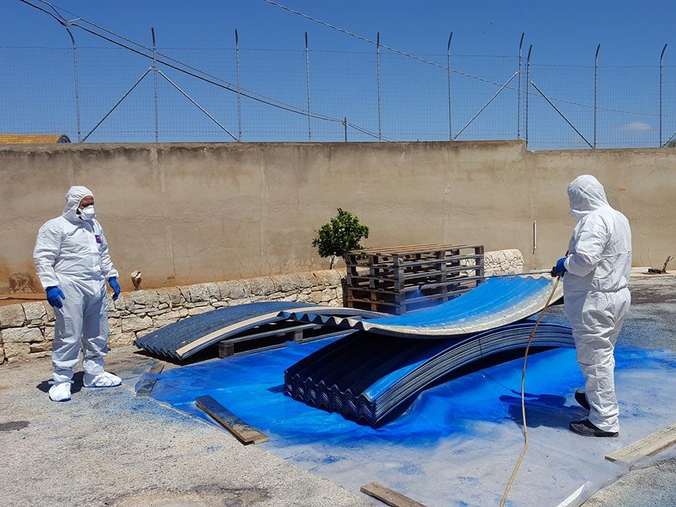 Incapsulamento amianto dalla copertura - Ragusa