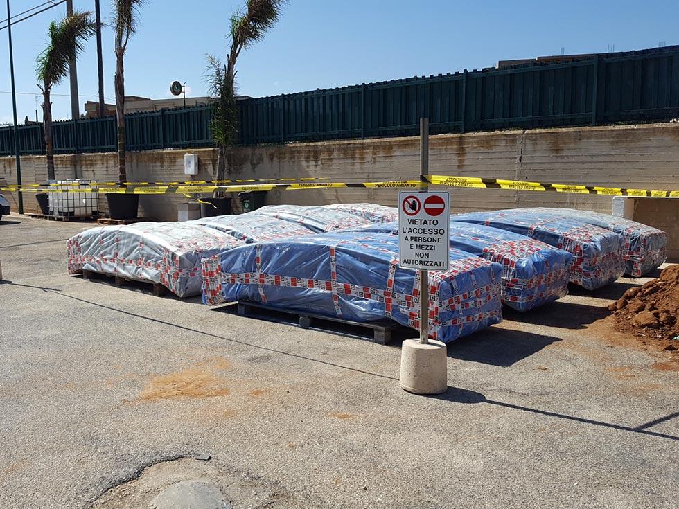 Lastre in amianto della copertura da smaltire - Confinamento amianto Ragusa