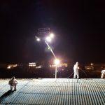 Rimozione amianto dalla copertura industriale del supermercato Conad a Modica, Ragusa.
