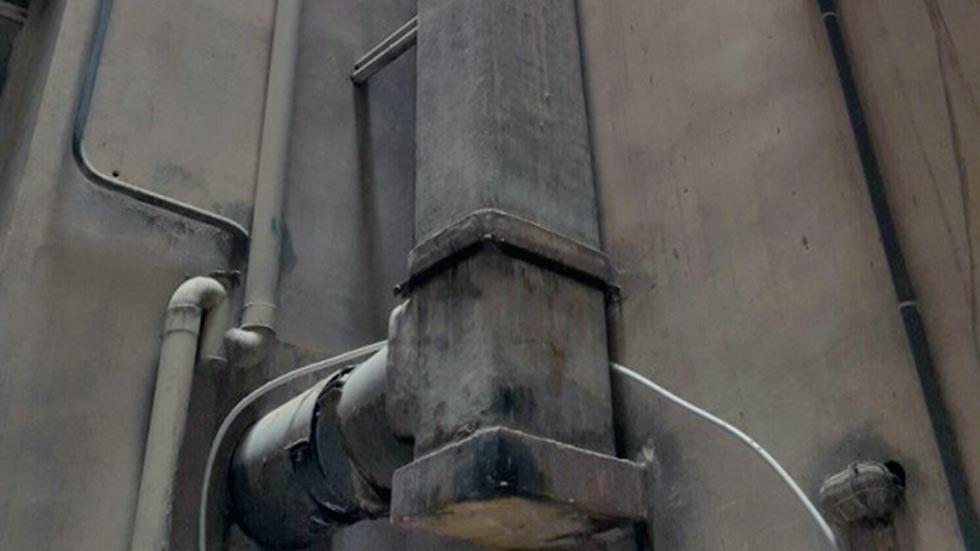 La canna fumaria in cemento amianto
